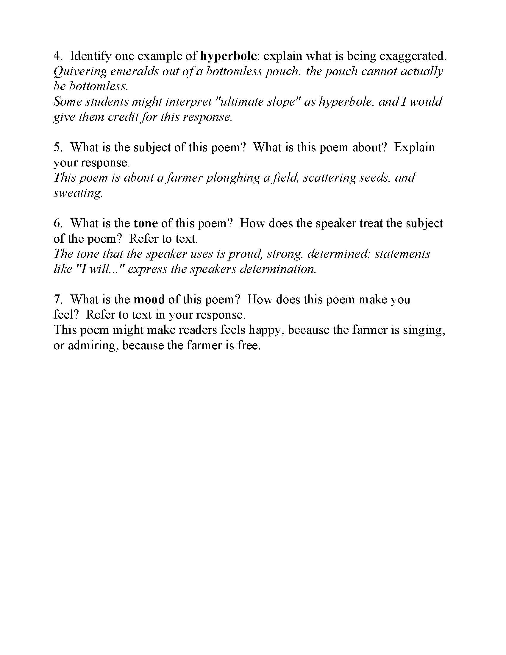 Figurative Language Poem 1 Answer Key | Webcas.org