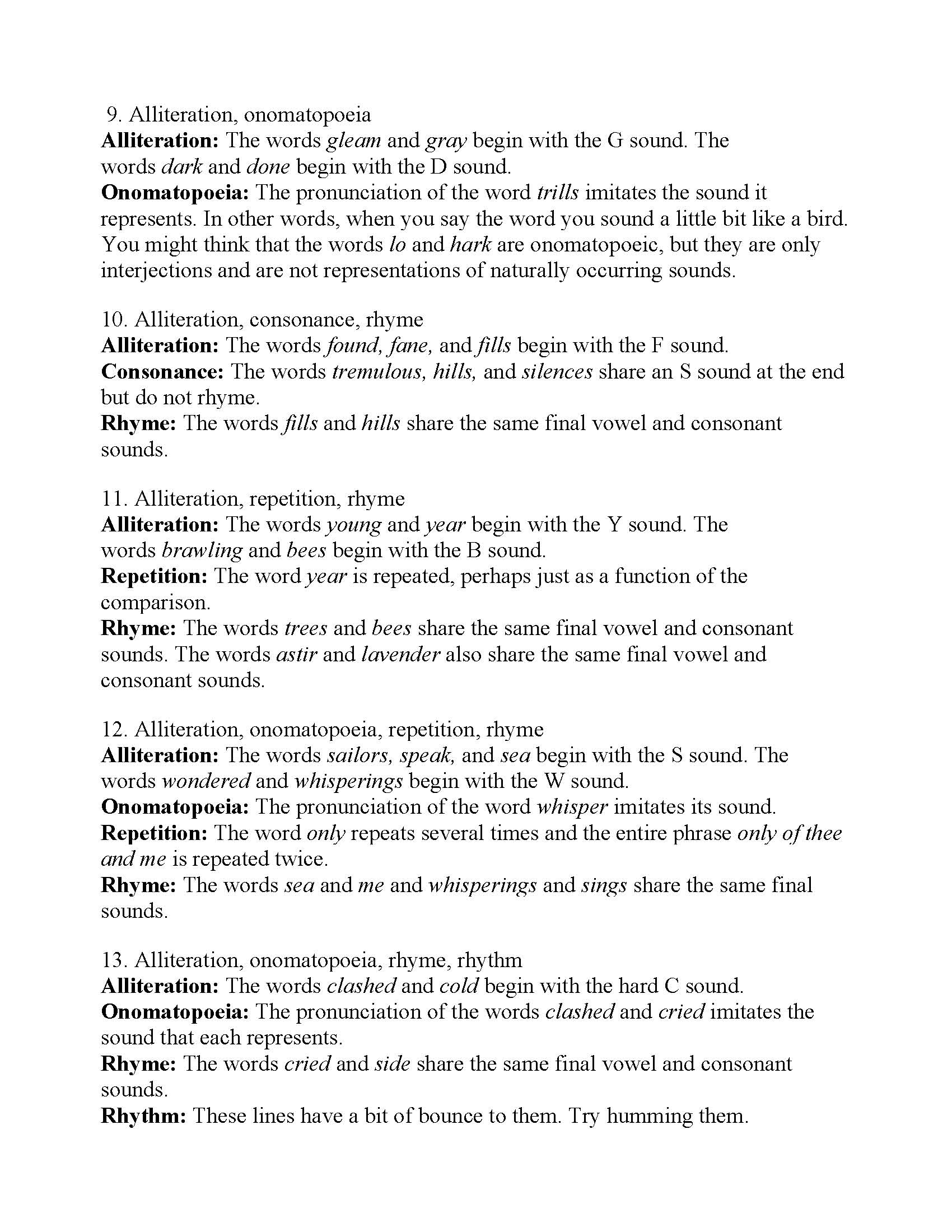 Poetic Devices Worksheet 1 - Promotiontablecovers