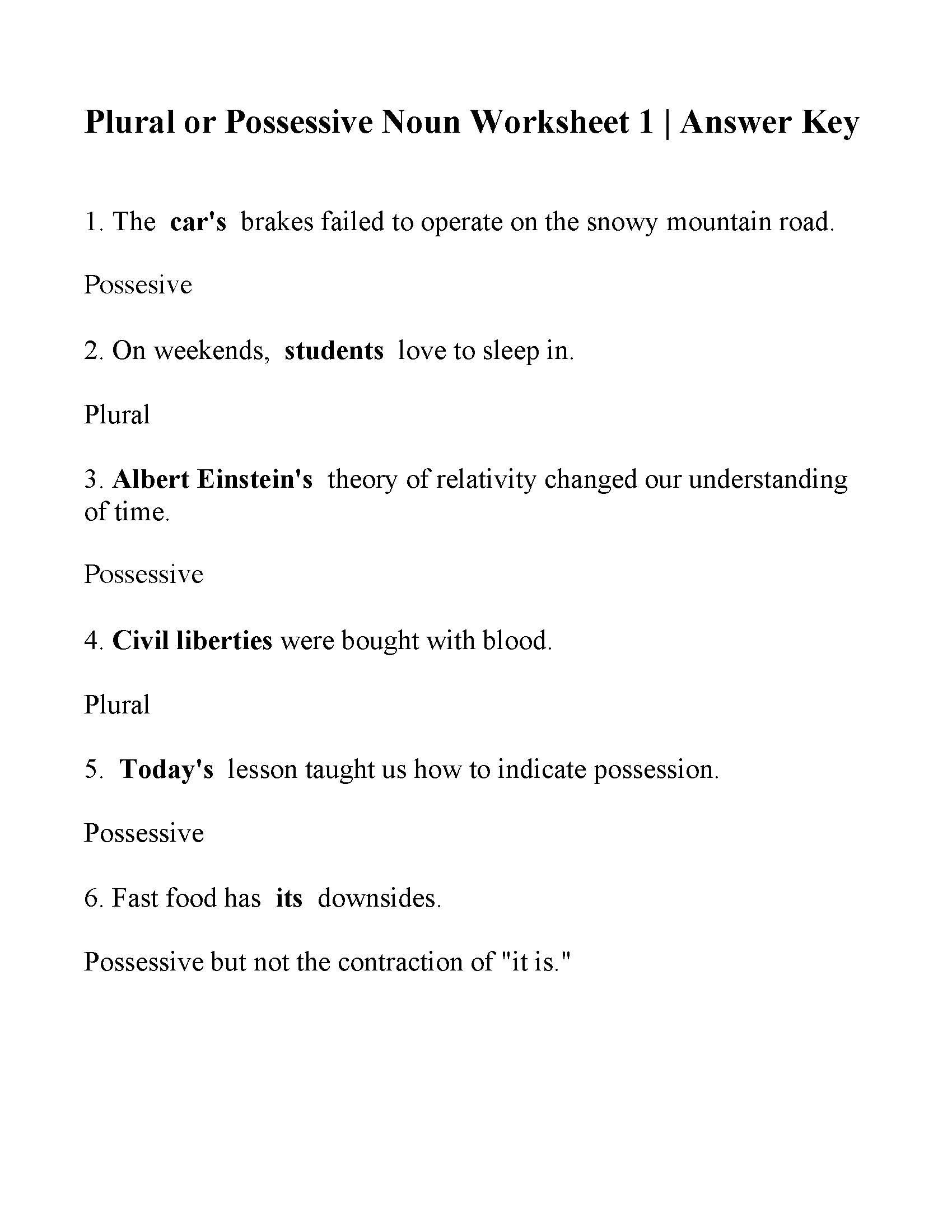 Plural Or Possessive Noun Worksheet Answers Turtle diary's noun worksheets are a good tool for practicing this part of speech. plural or possessive noun worksheet
