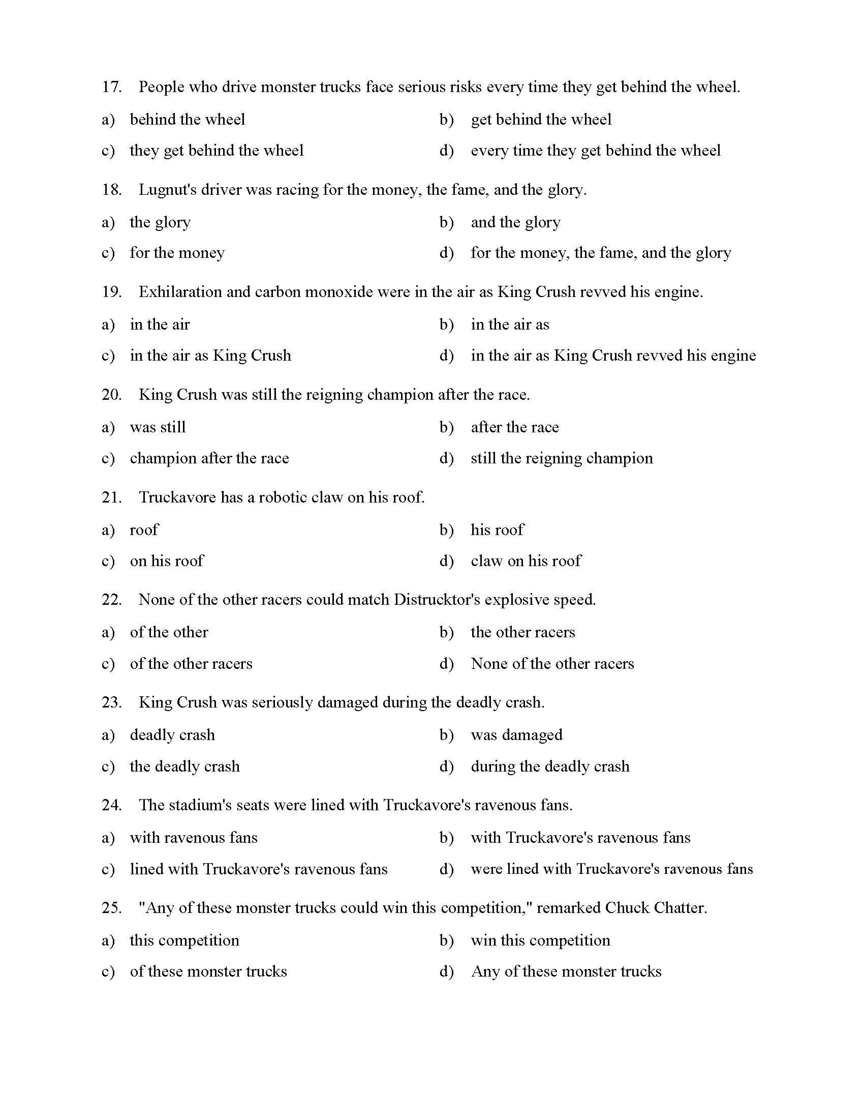 Prepositional Phrases Worksheet 1 - Reading Level 3 | Preview