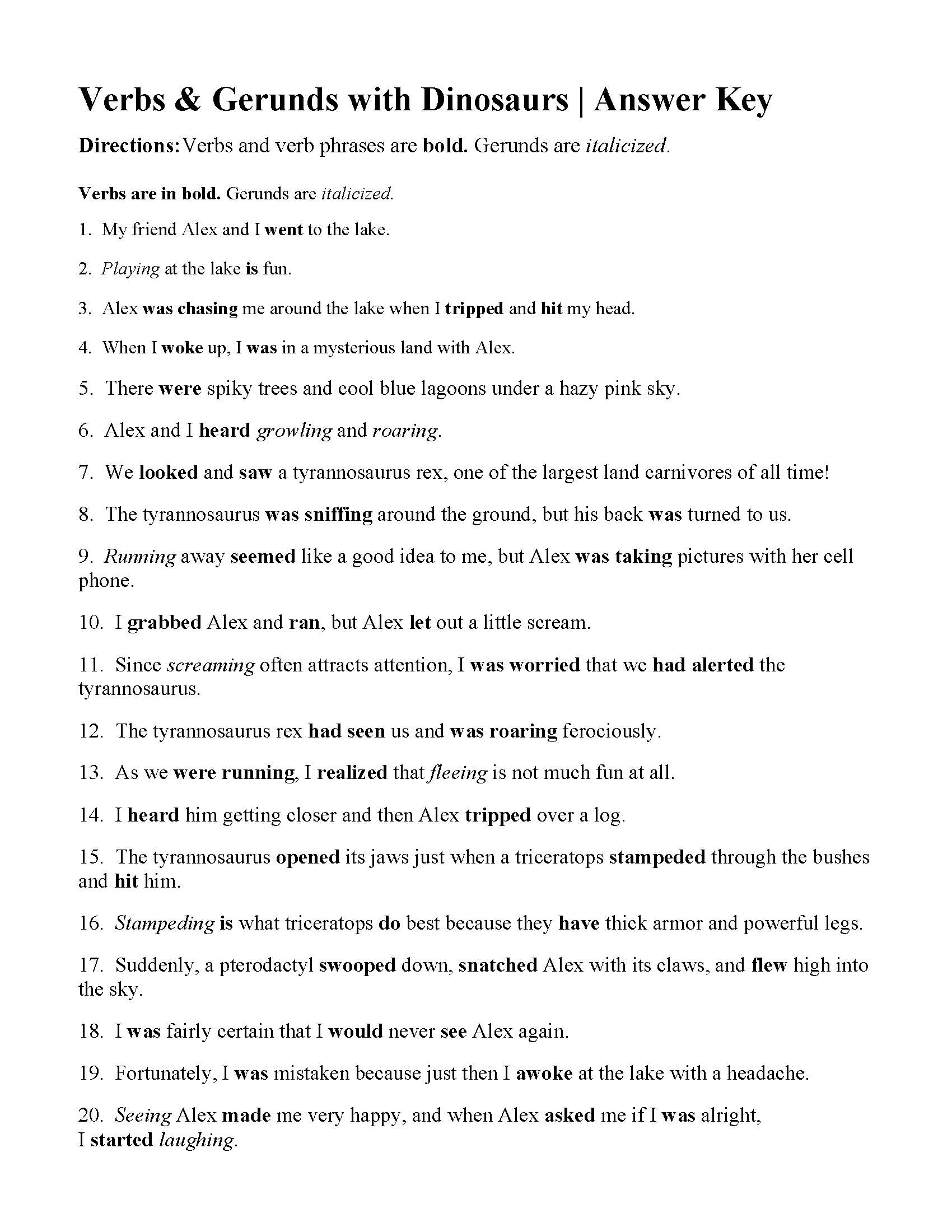 Worksheets Gerund Worksheet verbs of being and gerunds worksheet answers this is the answer key for worksheet