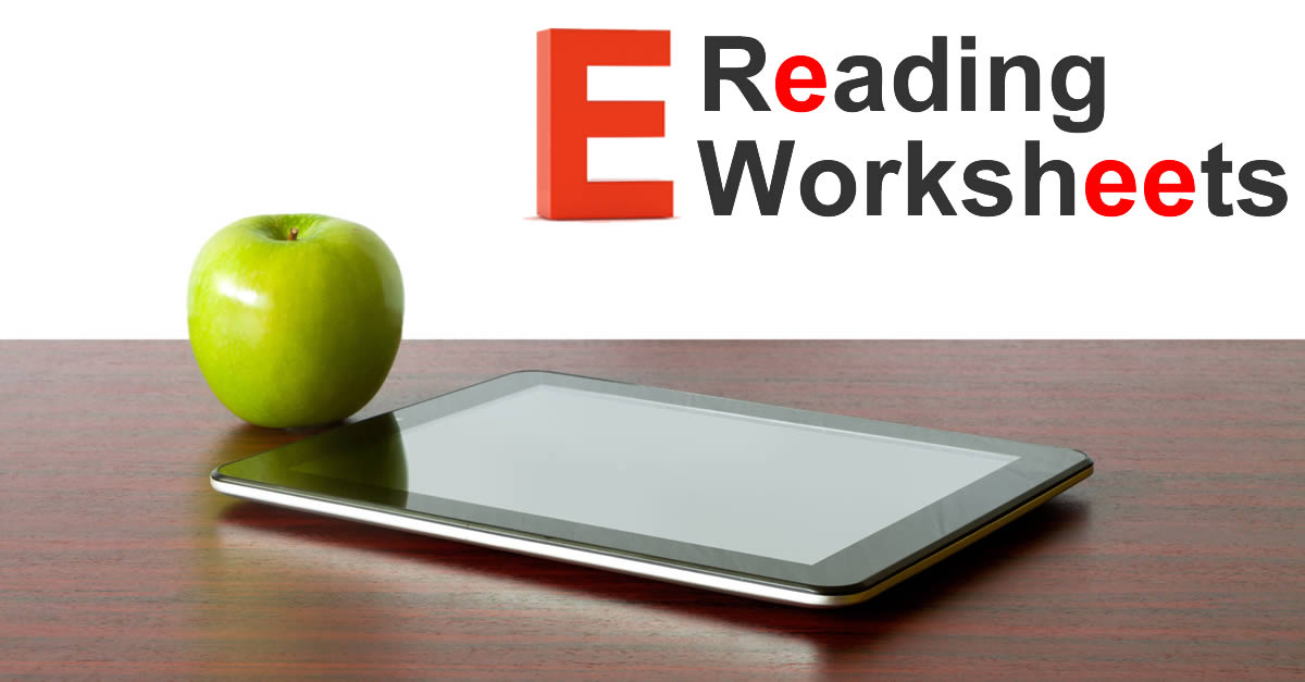 Ereading Worksheets | Free Reading Activities & Resources