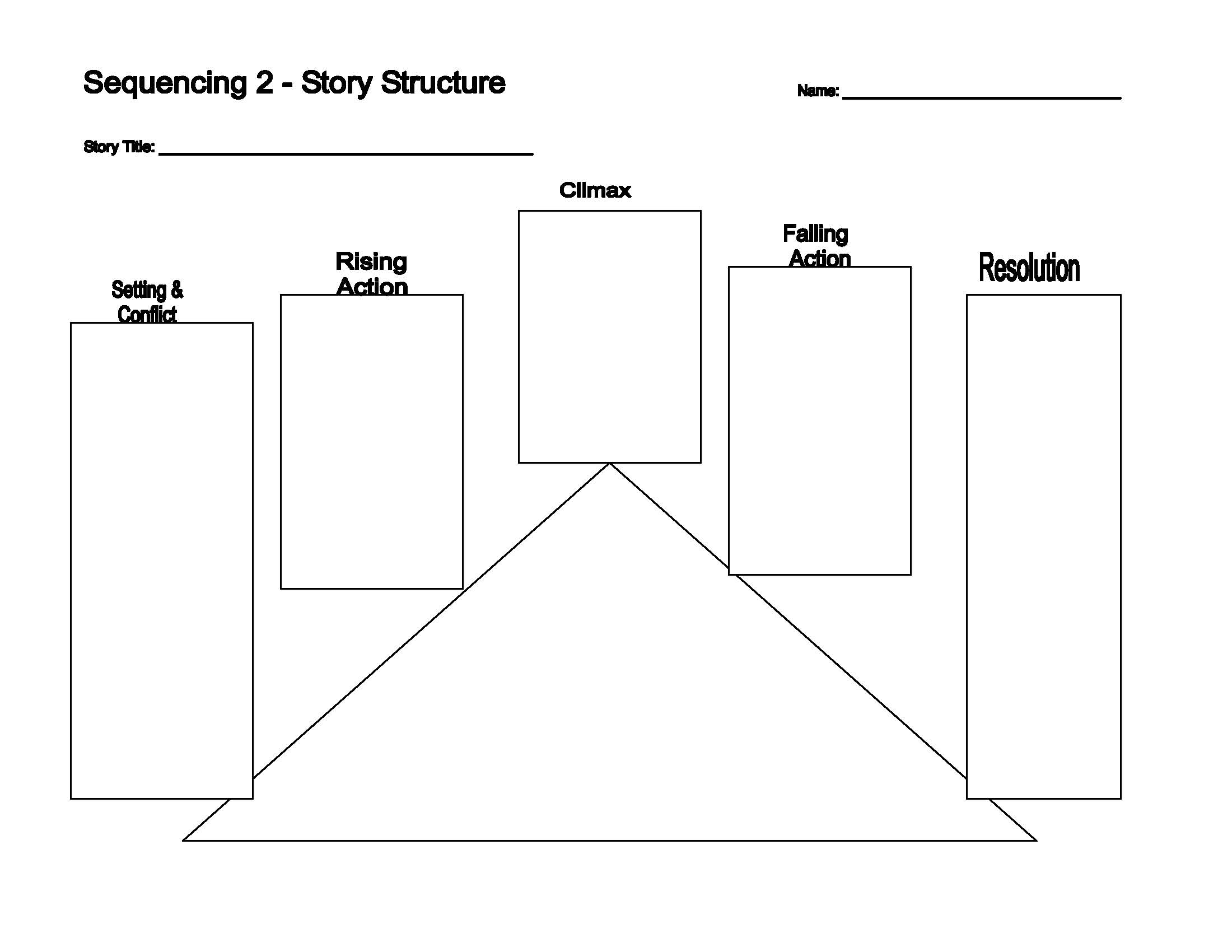 This is a preview image of Story Structure Graphic Organizer 2. Click on it to enlarge it or view the source file.