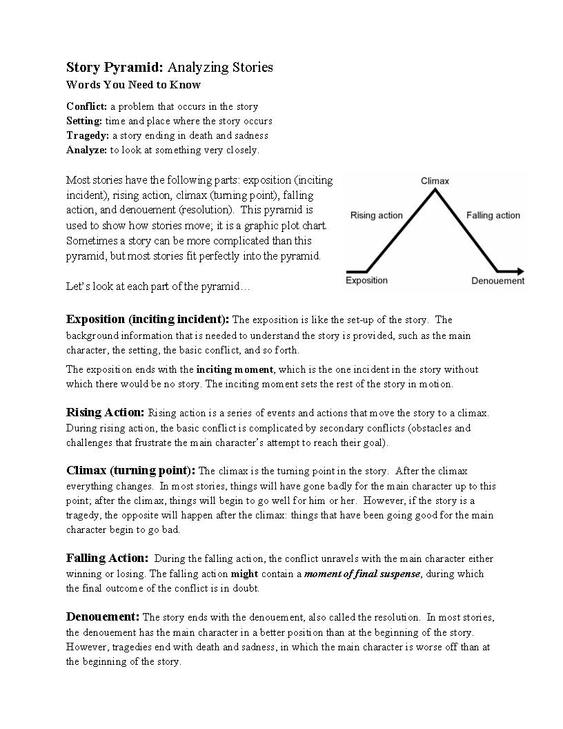 This is a preview image of Story Structure Handout. Click on it to enlarge it or view the source file.