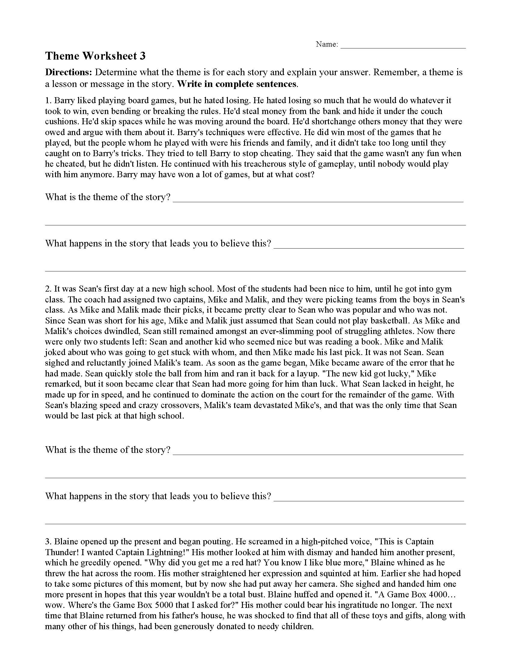 Theme Or Author S Message Worksheets Ereading Worksheets Print, save, edit, and practice online. ereading worksheets
