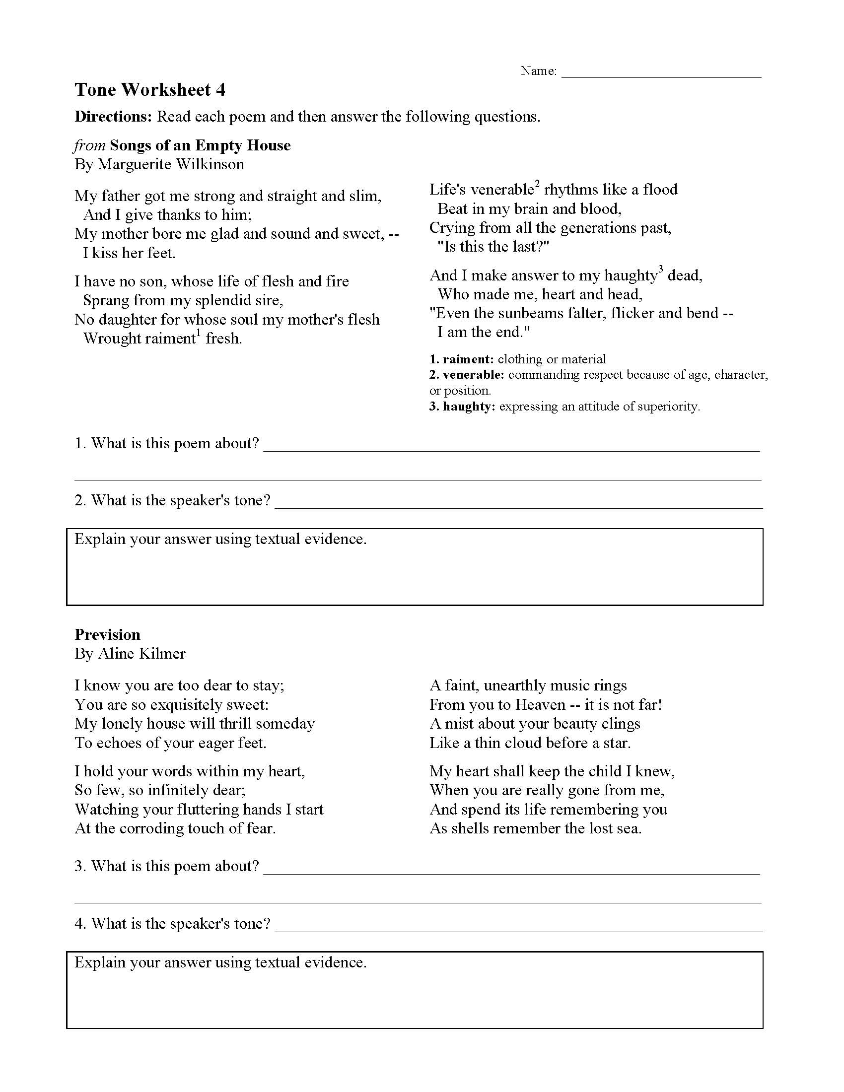 This is a preview image of Tone Worksheet 4. Click on it to enlarge it or view the source file.