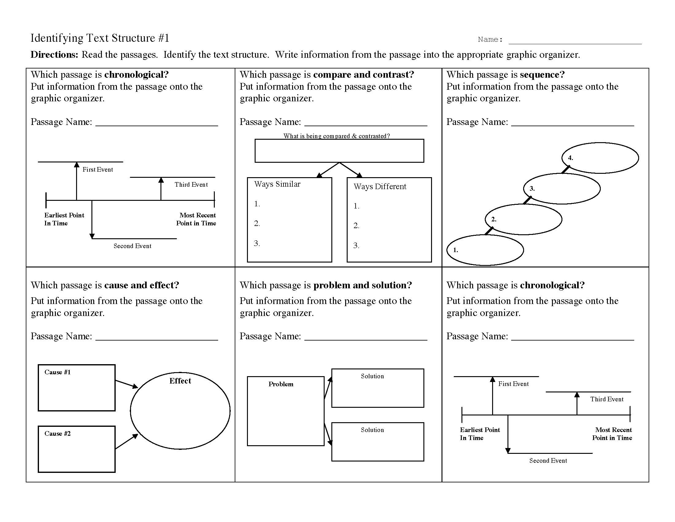 Text Structure Worksheet 1 | Preview