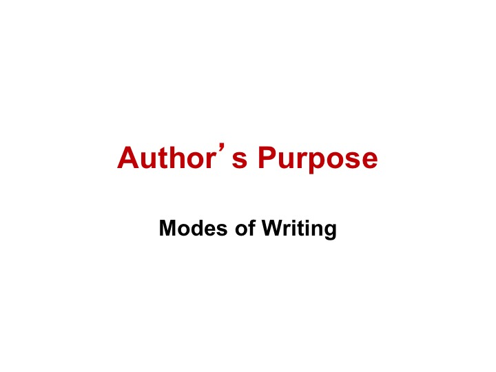 This is a preview image of Author's Purpose PowerPoint Lesson 1. Click on it to enlarge it or view the source file.