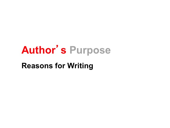 This is a preview image of Author's Purpose PowerPoint Lesson 2. Click on it to enlarge it or view the source file.