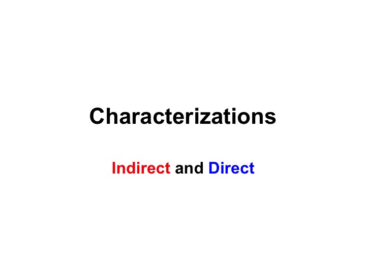This is a preview image of Characterization Lesson 1. Click on it to enlarge it or view the source file.