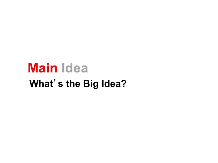 This is a preview image of Main Idea Lesson 1. Click on it to enlarge it or view the source file.