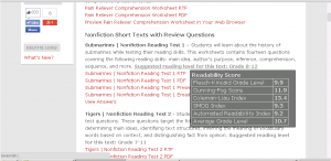 Ereadingworksheets text structure practice 1